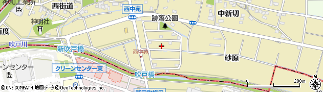 愛知県知立市西中町(跡落)周辺の地図