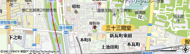 専称寺周辺の地図