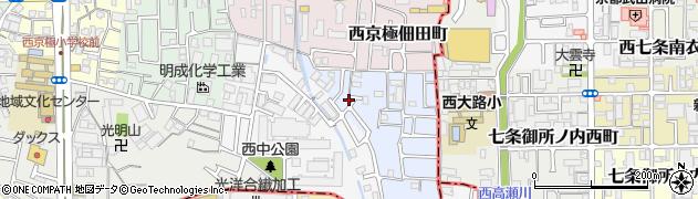 京都府京都市右京区西京極下沢町周辺の地図