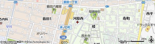 愛知県岡崎市井ノ口町(河原西)周辺の地図