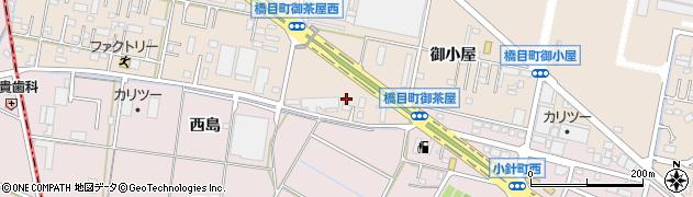 愛知県岡崎市橋目町(御茶屋)周辺の地図