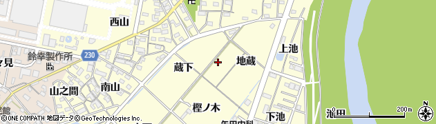 愛知県岡崎市北野町周辺の地図