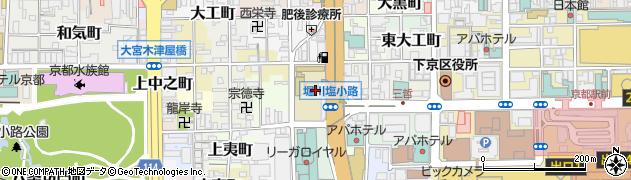 京都府京都市下京区御方紺屋町周辺の地図