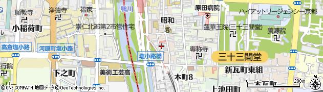 京都府京都市東山区一橋宮ノ内町周辺の地図