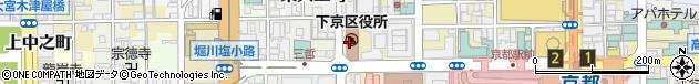 京都府京都市下京区周辺の地図