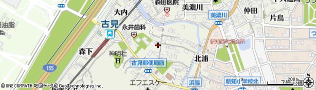愛知県知多市新知(下森)周辺の地図