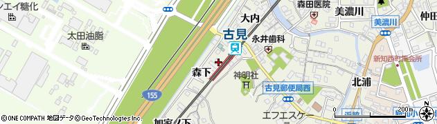 愛知県知多市新知(森下)周辺の地図
