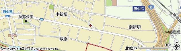 愛知県知立市西中町(南新切)周辺の地図