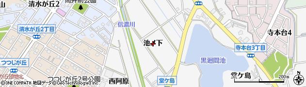 愛知県知多市八幡(池ノ下)周辺の地図