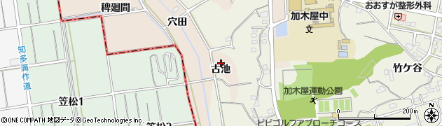 愛知県東海市養父町(古池)周辺の地図