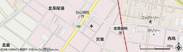 愛知県安城市橋目町(宮東)周辺の地図