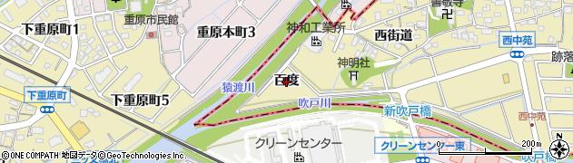 愛知県知立市西中町(百度)周辺の地図