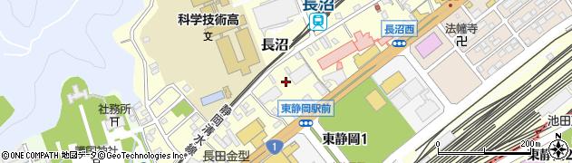静岡県静岡市葵区長沼周辺の地図
