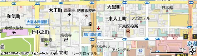 京都府京都市下京区北不動堂町周辺の地図