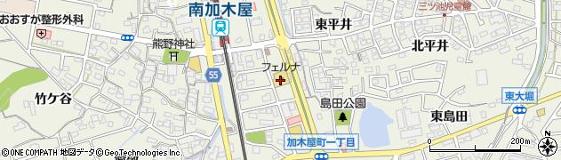 丸忠寿司 丸忠南加木屋店周辺の地図