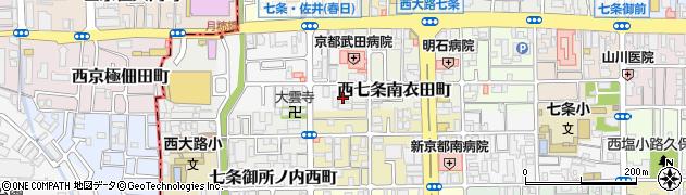 京都府京都市下京区西七条南衣田町周辺の地図