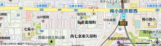京都府京都市下京区朱雀裏畑町周辺の地図