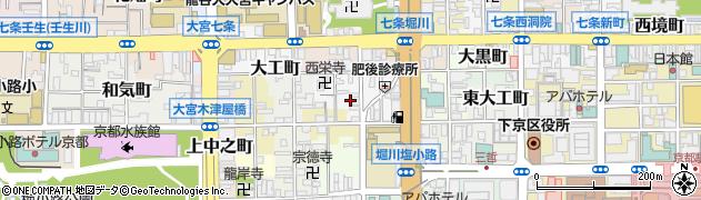 京都府京都市下京区川端町周辺の地図