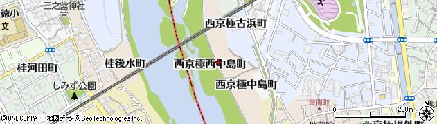 京都府京都市右京区西京極西中島町周辺の地図