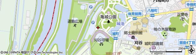 愛知県刈谷市城町周辺の地図