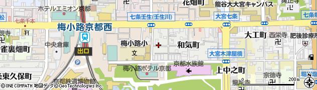 京都府京都市下京区和気町周辺の地図