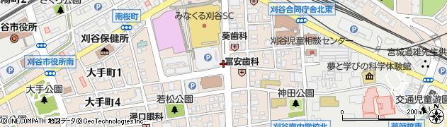 愛知県刈谷市若松町周辺の地図
