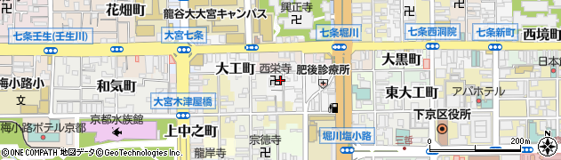 京都府京都市下京区南八百屋町周辺の地図