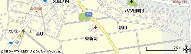 愛知県知立市八ツ田町(東新切)周辺の地図