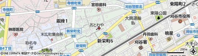 愛知県刈谷市新栄町周辺の地図