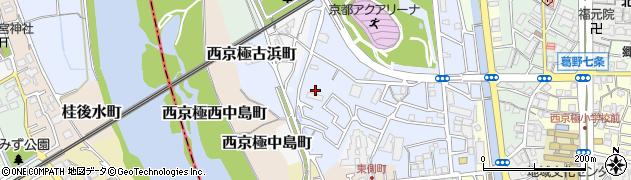 京都府京都市右京区西京極徳大寺団子田町周辺の地図