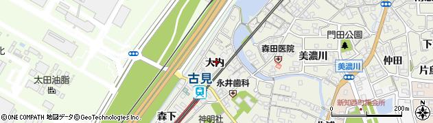 愛知県知多市新知(大内)周辺の地図