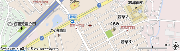 滋賀県草津市若草周辺の地図