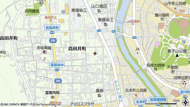 〒677-0016 兵庫県西脇市高田井町の地図