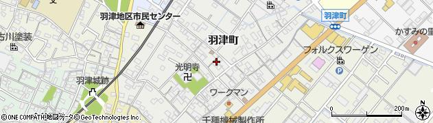 三重県四日市市羽津町周辺の地図