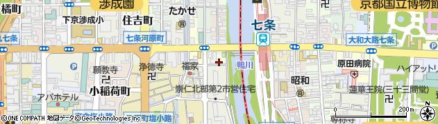 京都府京都市下京区若宮町周辺の地図