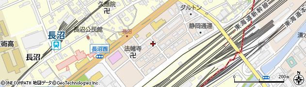 静岡県静岡市葵区長沼南周辺の地図