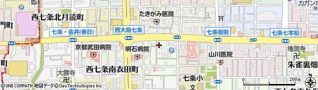 京都府京都市下京区西七条南西野町周辺の地図