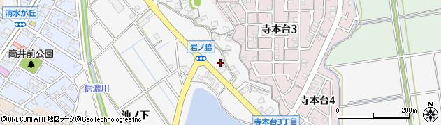 愛知県知多市八幡(岩ノ脇)周辺の地図