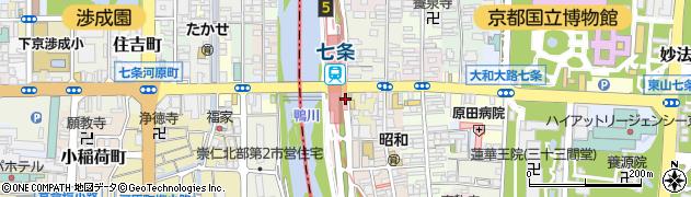 マクドナルド 七条京阪店周辺の地図
