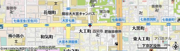 京都府京都市下京区西八百屋町周辺の地図