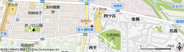 愛知県岡崎市百々町(川田)周辺の地図