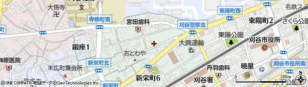 丸鮨刈谷店周辺の地図