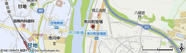 兵庫県市川町(神崎郡)周辺の地図