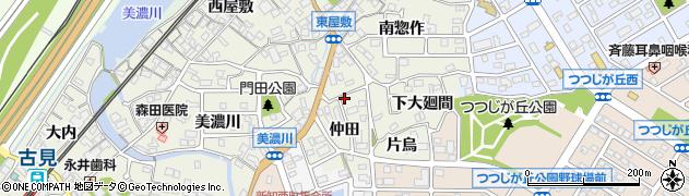 愛知県知多市新知(仲田)周辺の地図