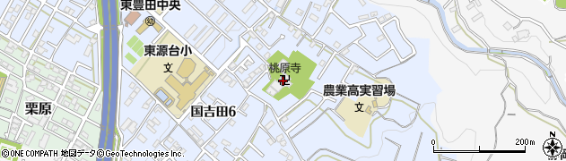 桃原寺周辺の地図
