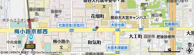 京都府京都市下京区花畑町周辺の地図