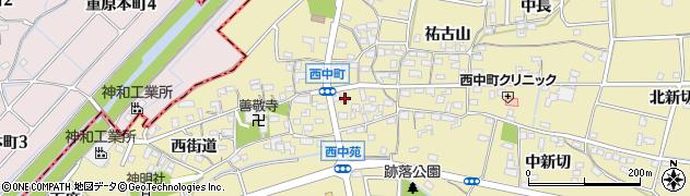 愛知県知立市西中町(永崎)周辺の地図