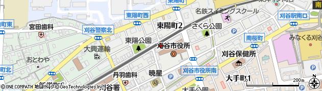 愛知県刈谷市東陽町周辺の地図