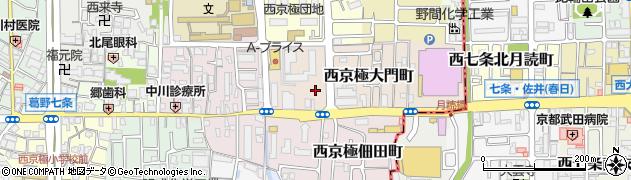 京都府京都市右京区西京極大門町周辺の地図