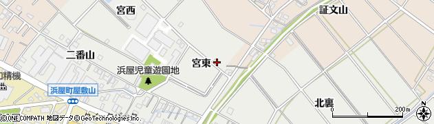 愛知県安城市浜屋町(宮東)周辺の地図